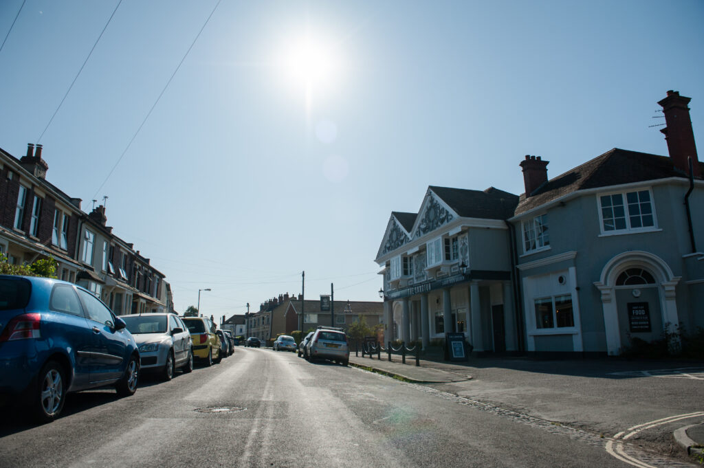 3-Laura Crouchley SUNNY BLUE SKY from street