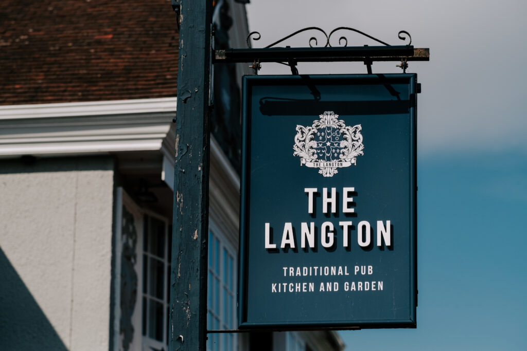 WEB - Outside front The Langton hanging sign